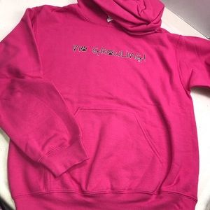 No Growling Pink Dog Paw Sweatshirt Hoodie 🐾
